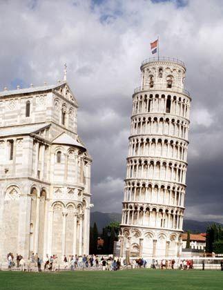 Pisa: Hinge das Bild schief, wäre der Turm wieder gerade