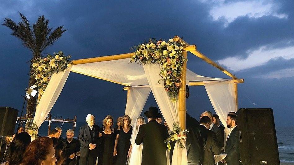 Hochzeitsfeier in Caesarea, Israel
