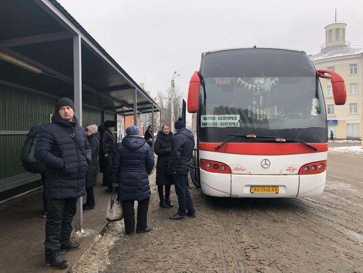 Bus nach Charkiw