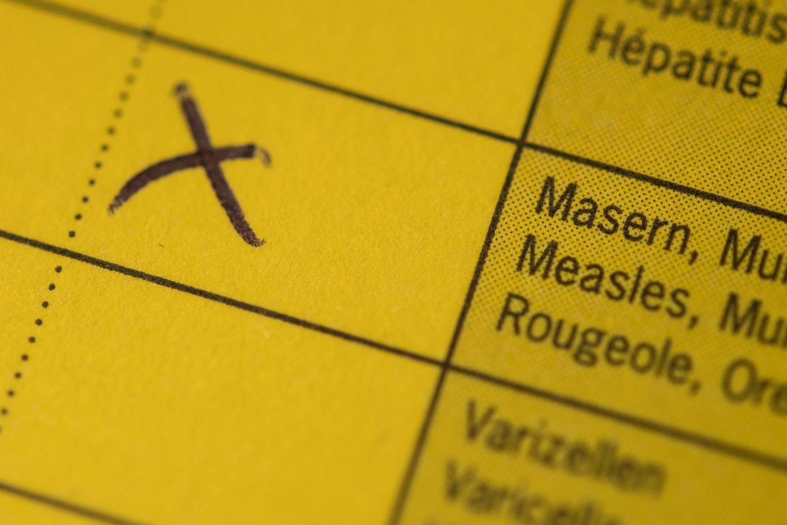 Impfpass - Masern