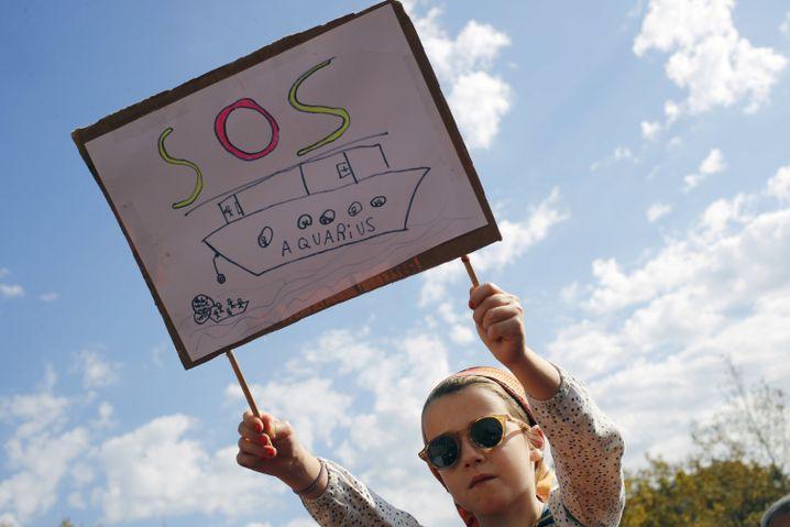 """Demonstration für die """"Aquarius"""""""