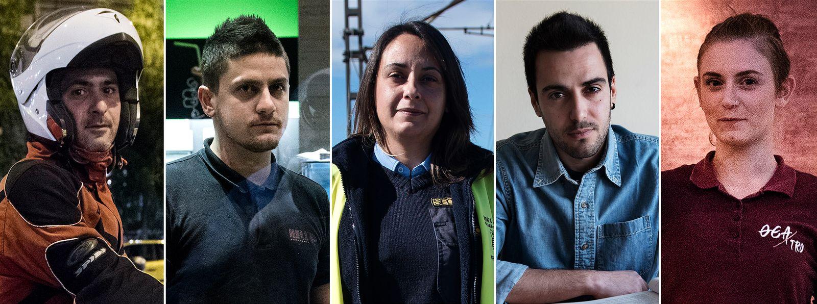 EINMALIGE VERWENDUNG COMBO/ Griechenland/ Arbeit