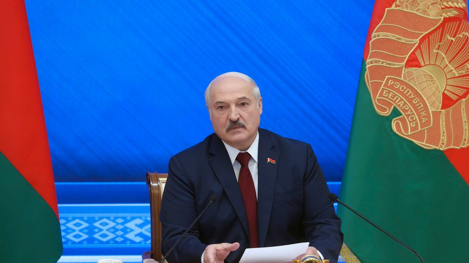 »Pressekonferenz« des belarussischen Machthabers Alexander Lukaschenko: »Ein richtiger Di-a-log«