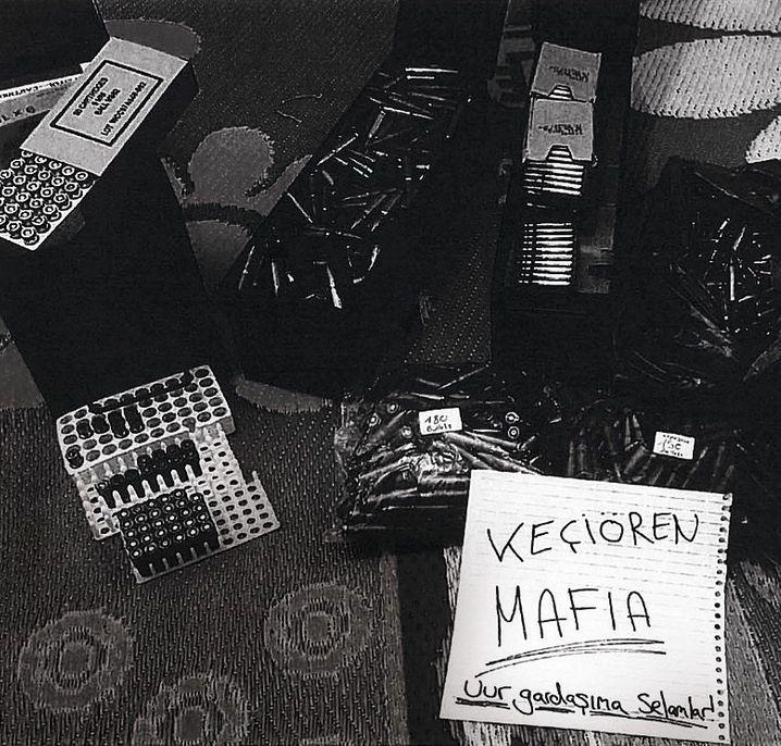 Ammunition in Ismail's apartment in Raqqa