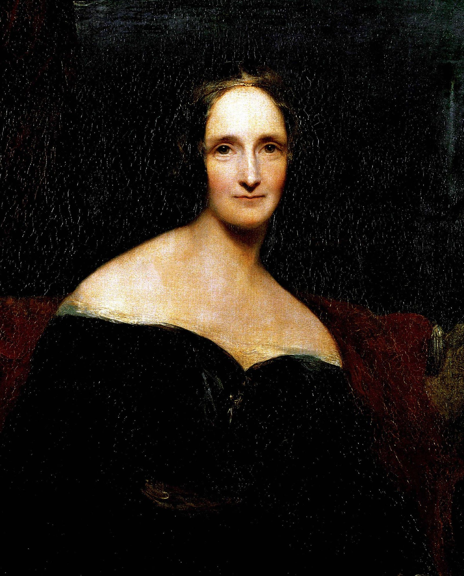 Portrait de l ecrivain britannique Mary Wollstonecraft Shelley 1797 1851 Peinture de Richard Roth
