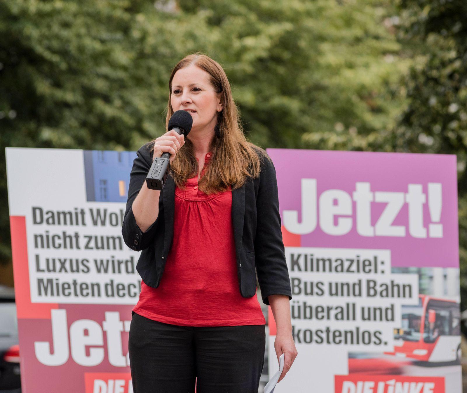 Bundestagswahl 2021: Janine Wissler Deutschland, Berlin: Janine Wissler und Dietmar Bartsch, gemeinsam mit dem Bundesges