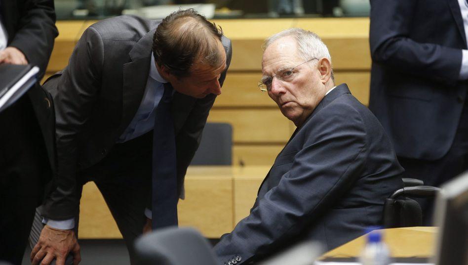 """Wolfgang Schäuble (rechts): """"Außergewöhnlich schwierige"""" Beratungen"""