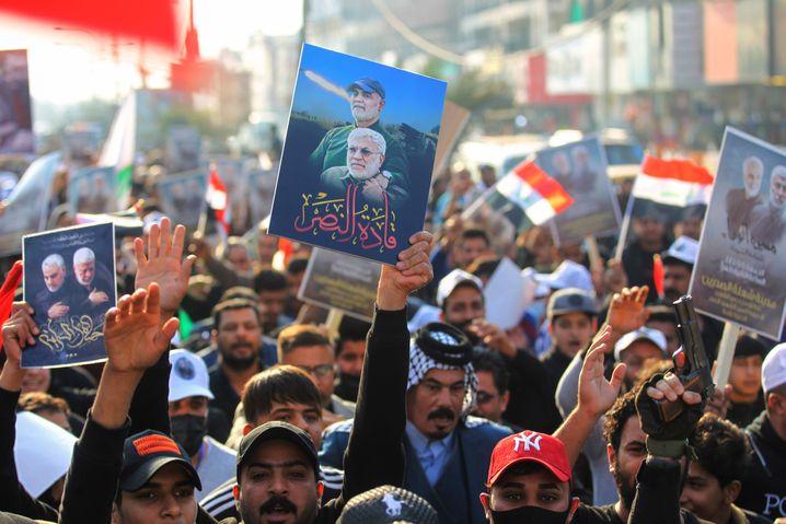Proteste zum Jahrestag des Anschlags in Bagdad