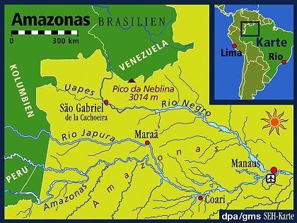 Trekking am Amazonas: Von Manaus geht es in nordwestlicher Richtung zum Pico da Neblina