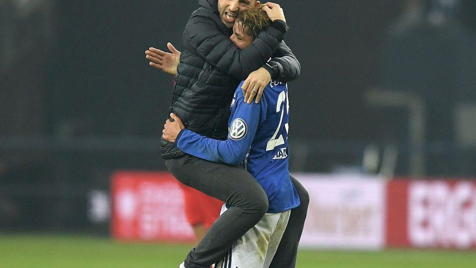 Coach Tedesco im Dezember nach Pokalsieg gegen Köln: »Ich finde es phasenweise schön, wie wir spielen«