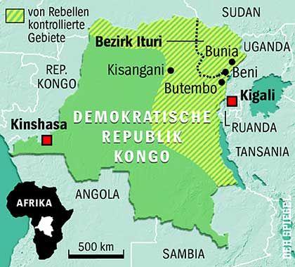 Demokratische Republik Kongo: Militäreinsatz im Bürgerkriegsgebiet