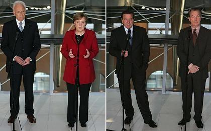 Stoiber, Merkel, Schröder, Müntefering: Die Kanzler-Macher