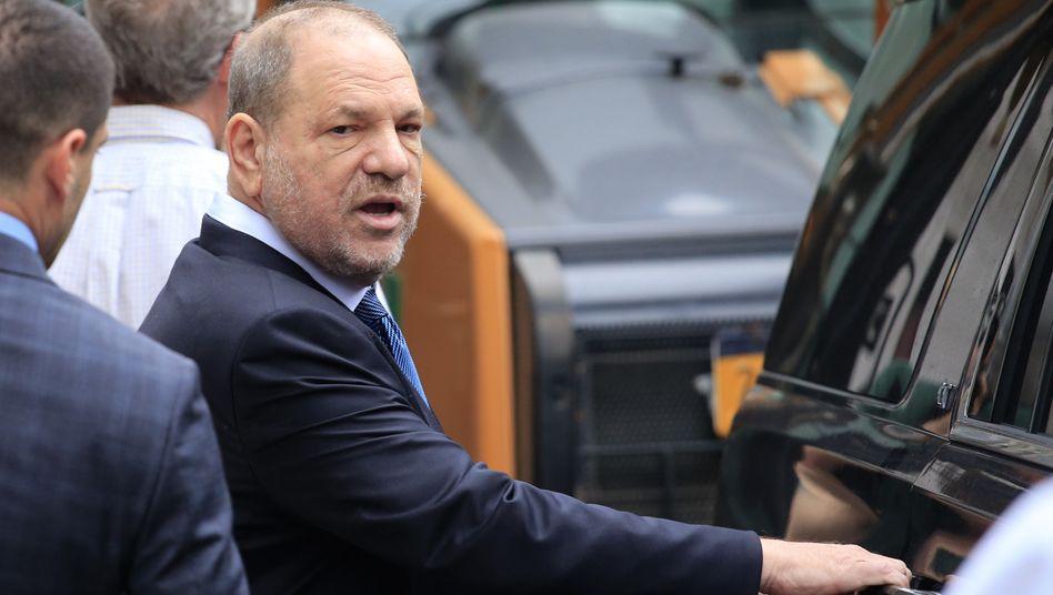 Harvey Weinsteinnach einer gerichtlichen Anhörung im Jahr 2018