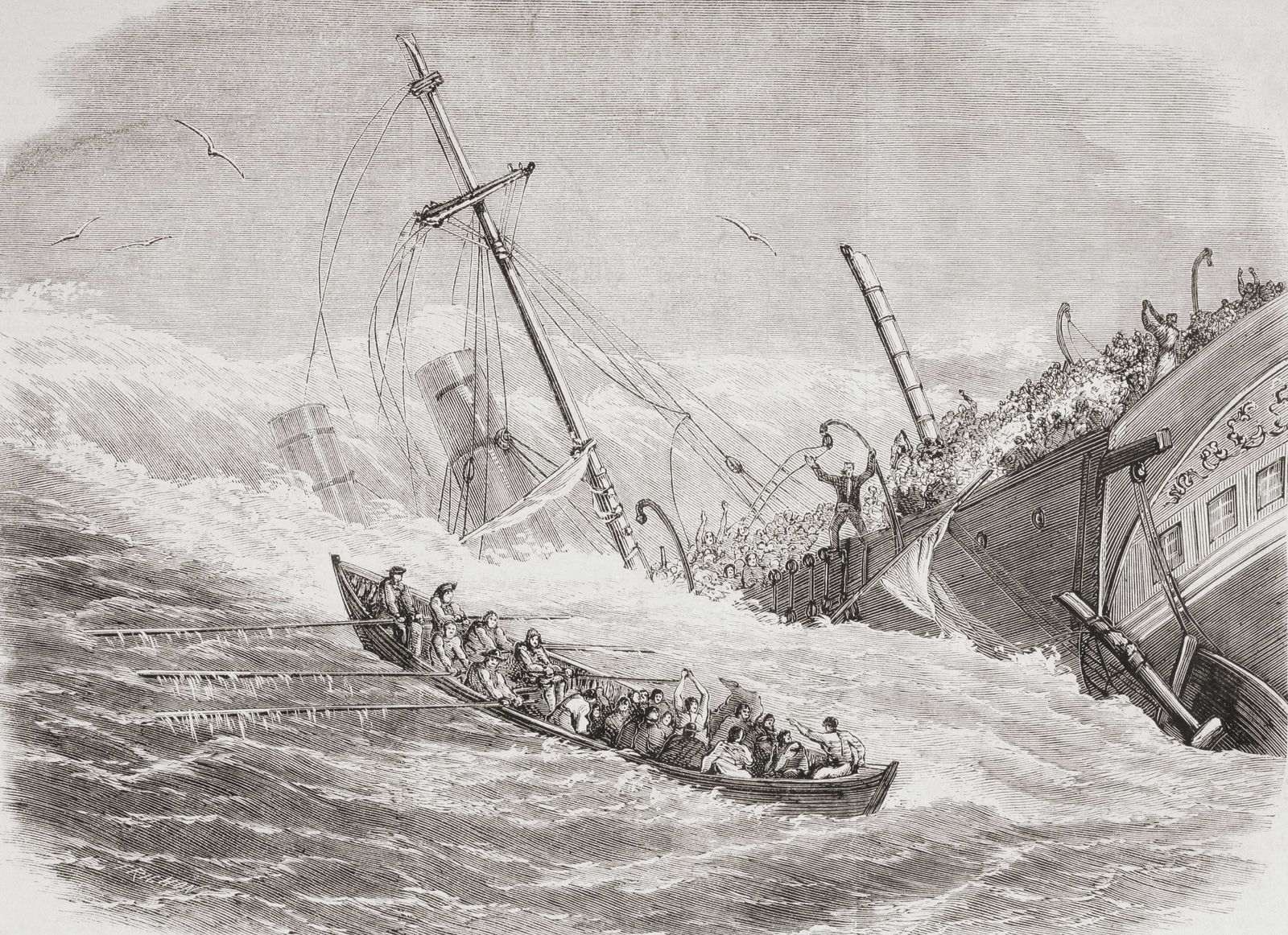 The Sinking Of The Ss London During Stormy Weather In The Bay Of Biscay In 1864 From L univers Ill