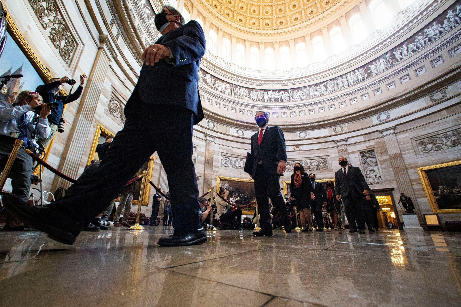 Trump impeachment trial in Washington