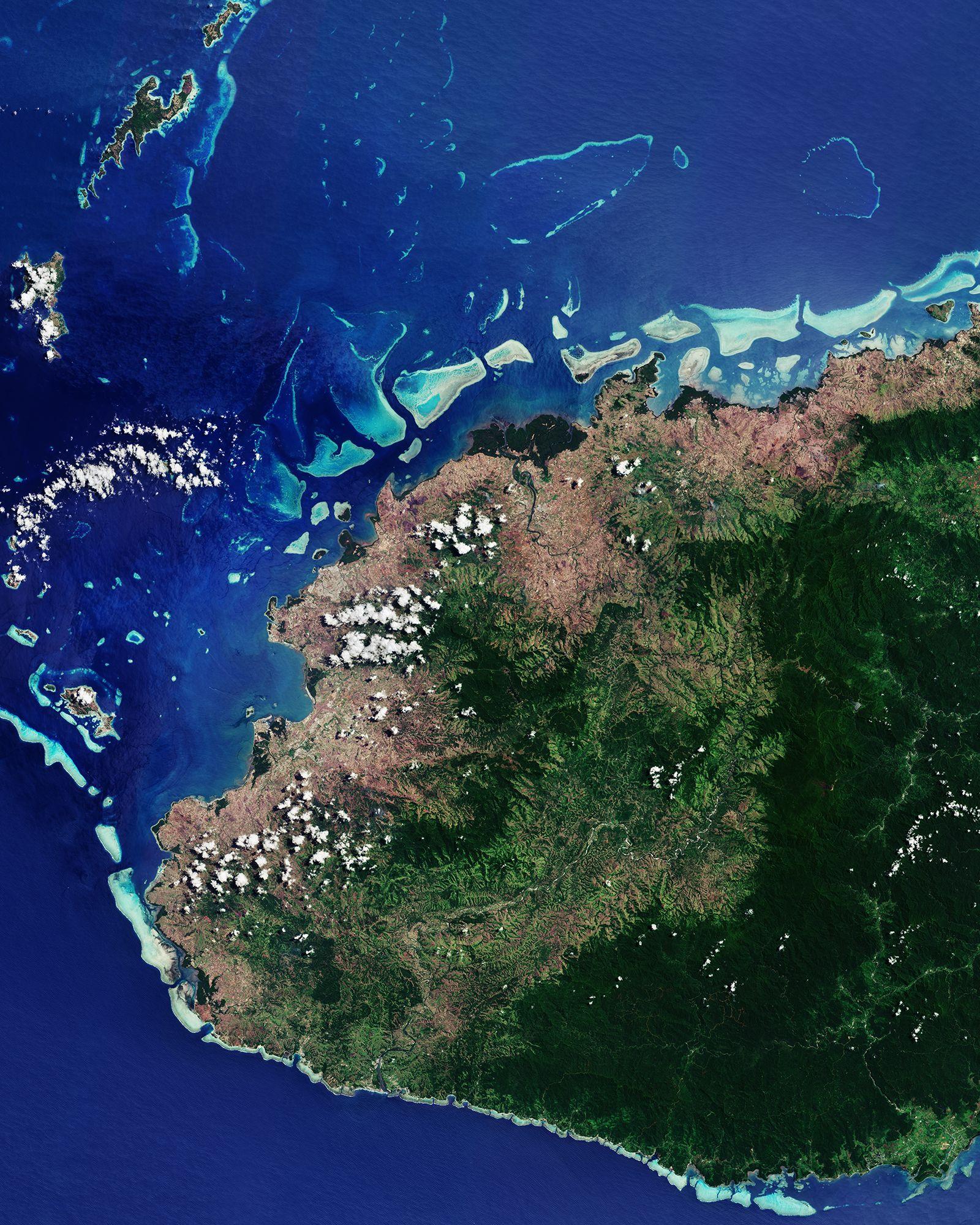 EINMALIGE VERWENDUNG Satellitenbild/ KW 45/ Fiji/ VITI LEVU