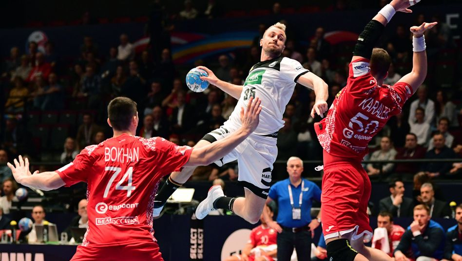 Handball Em 2020 Julius Kuhn Wahren Der Halbzeit In Kabine