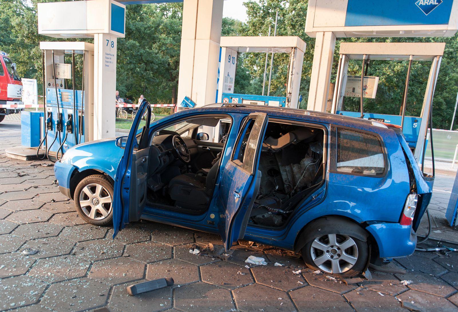 Explosion / Erdgas / VW Touran