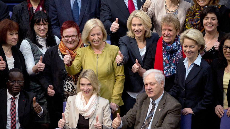 Freude in der Koalition: Die Frauenquote kommt