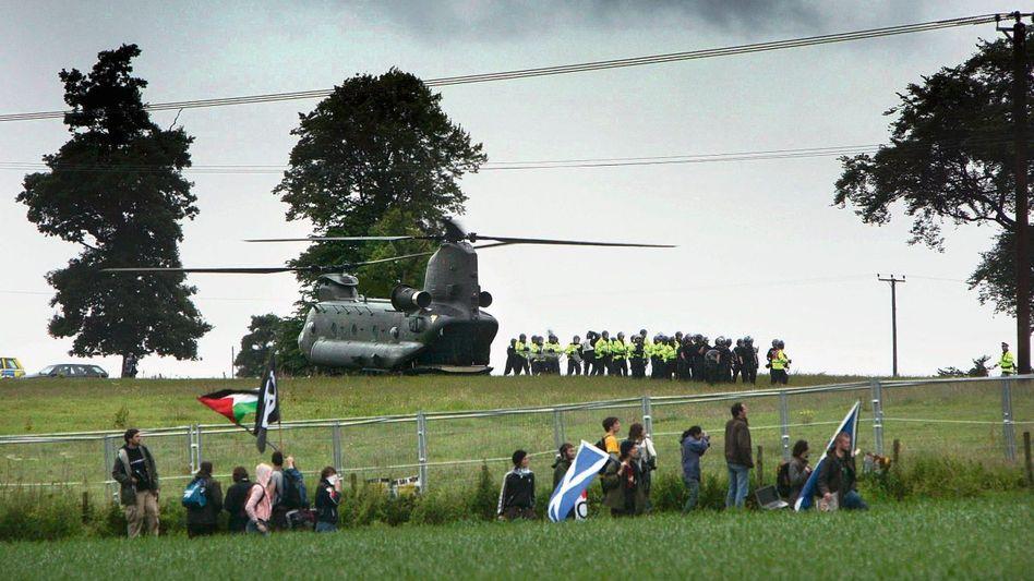 G-8-Gegner in Schottland 2005