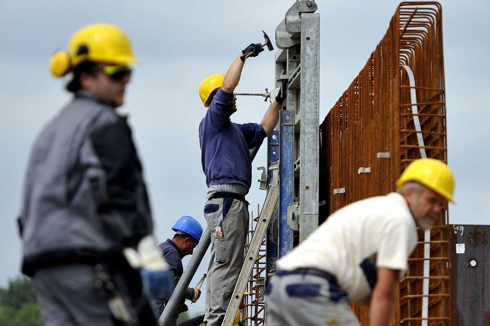 Konjunktur/ Bauarbeiter