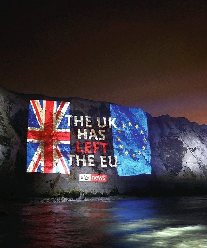 "A projection on the white cliffs of Dover: Barnier says of Britain's departure from the EU, ""I felt hurt personally."""