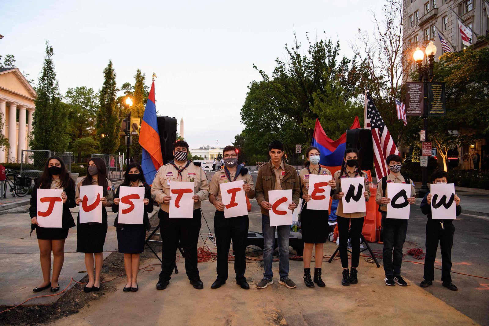 US-ARMENIA-TURKEY-GENOCIDE-PROTEST