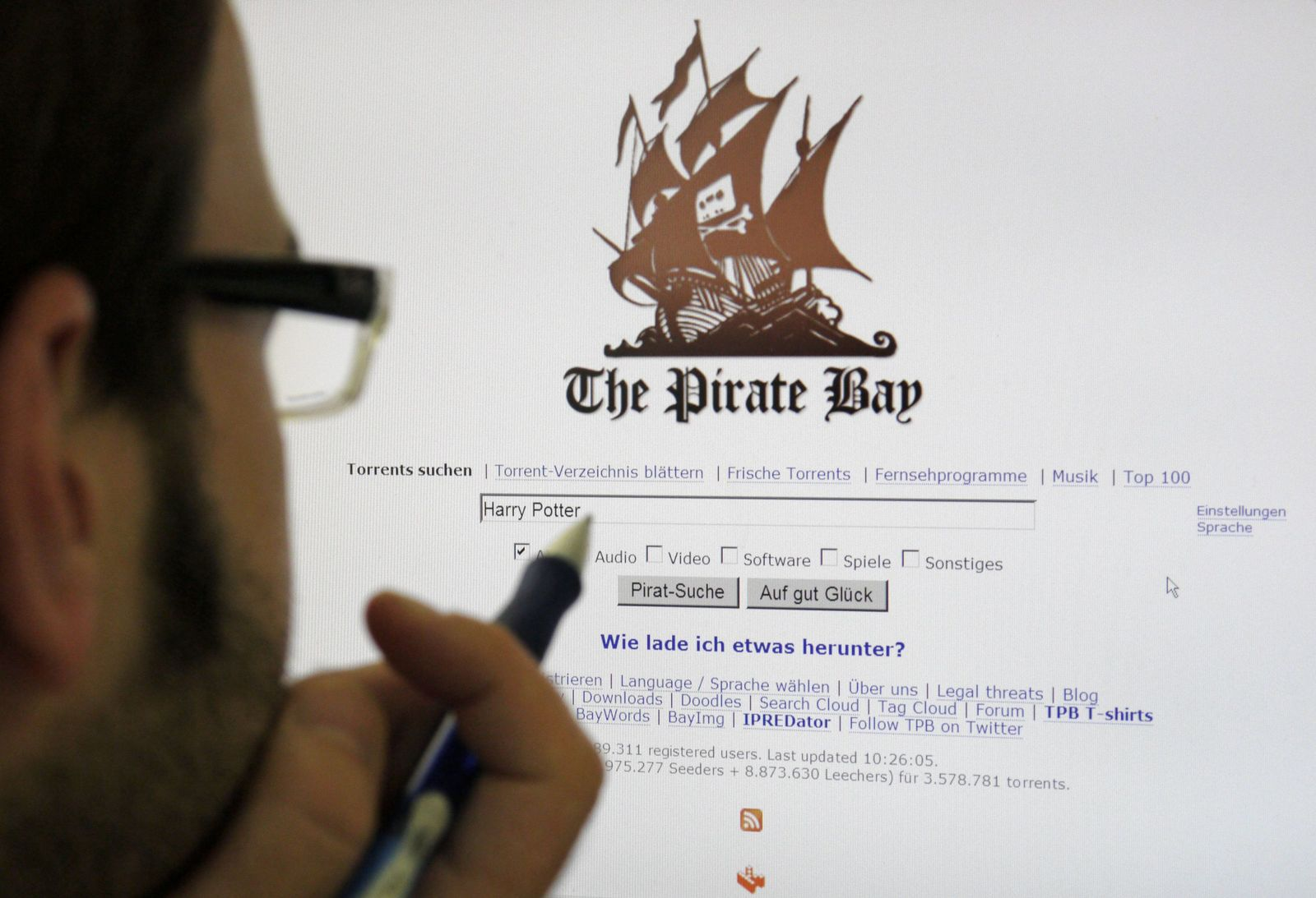 Tauschplattform Pirate Bay