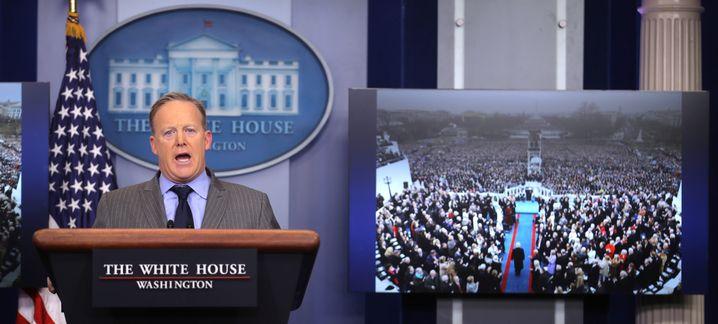 Sean Spicer am 21. Januar 2017