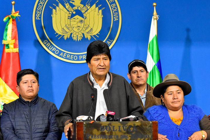 """Evo Morales: """"Bald komme ich mit mehr Kraft und Energie zurück"""""""