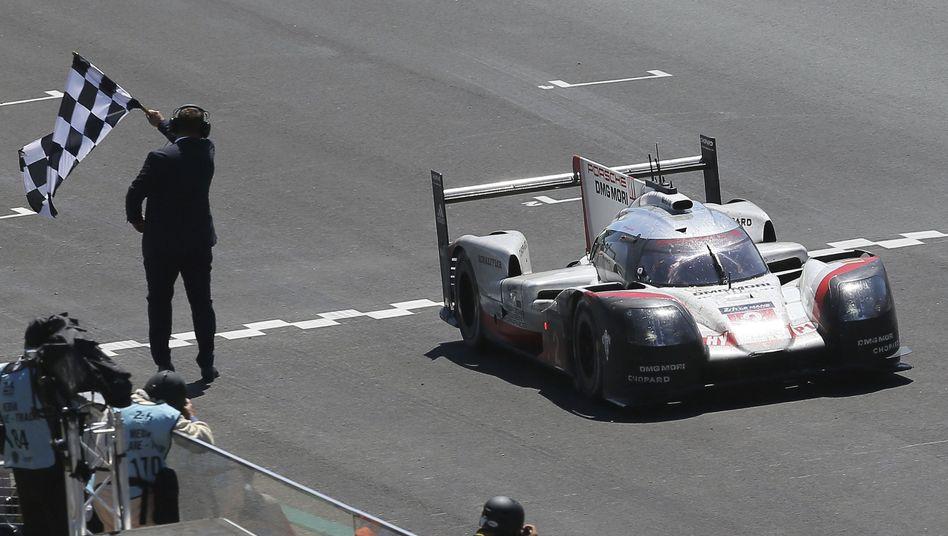 Porsche beim 24-Stunden-Rennen in Le Mans