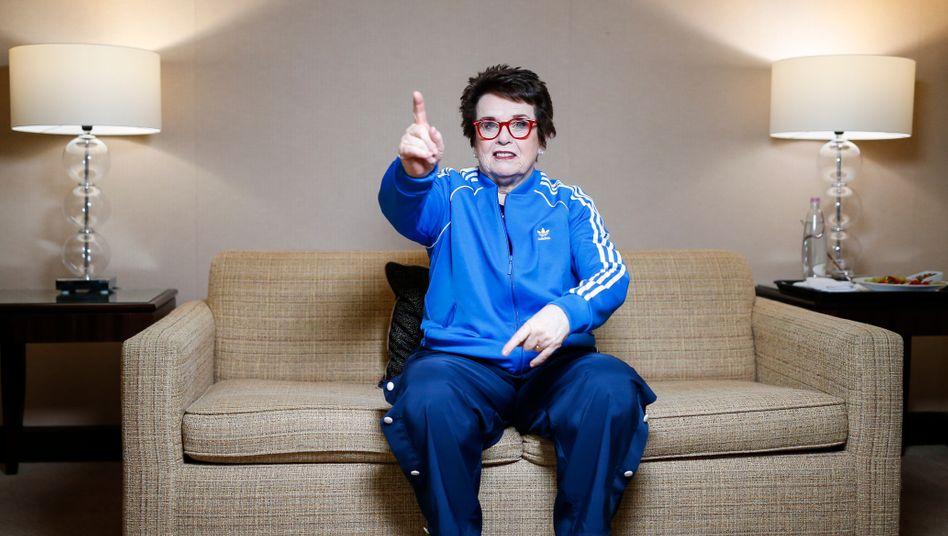 """Billie Jean King: """"Wir senden eine wirklich starke Botschaft. Und die soll jeder hören."""""""