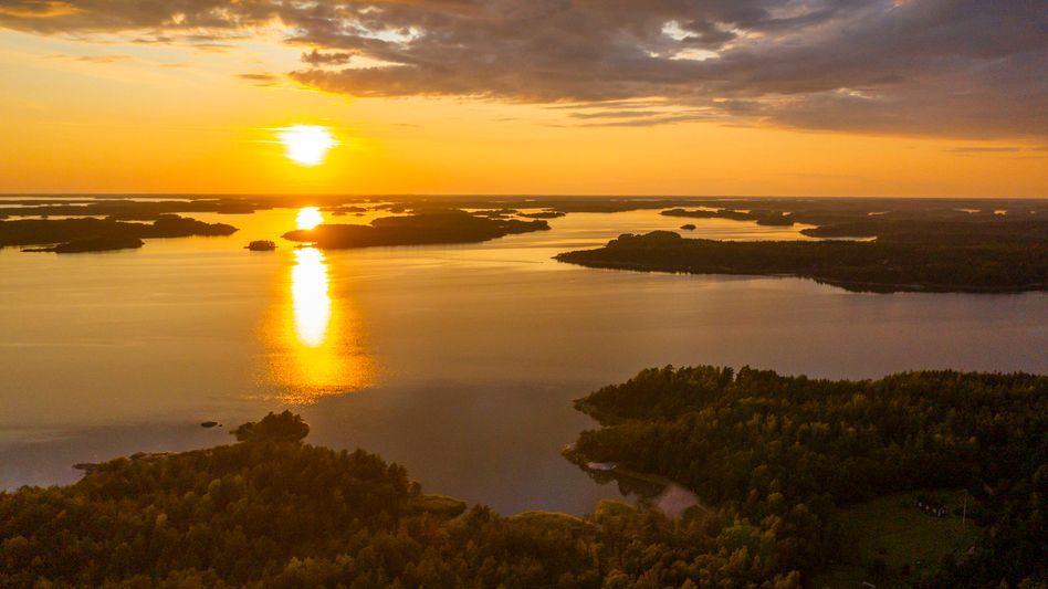 Seenlandschaft in Finnland: Heißester Juni seit Beginn der Wetteraufzeichnungen 1844