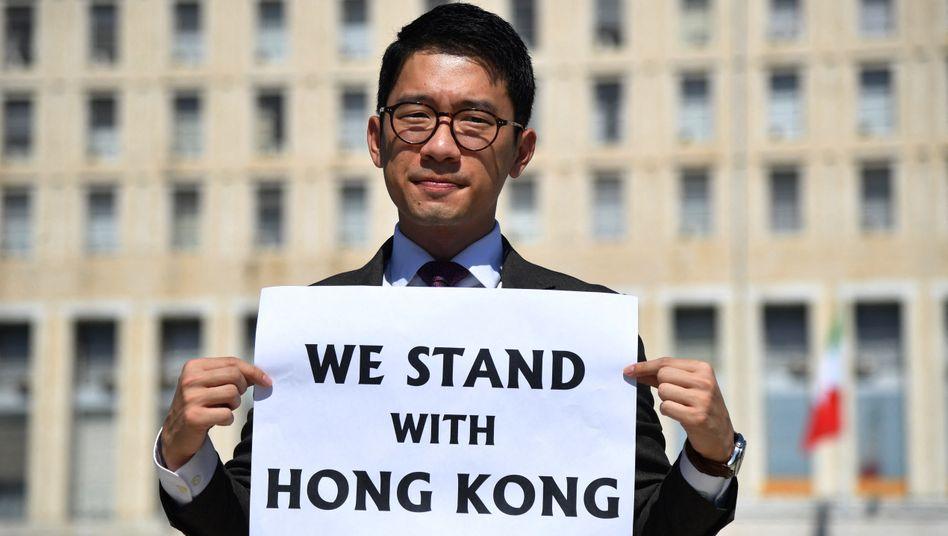 Nathan Law: Dem Aktivisten droht Verfolgung auf Grundlage des sogenannten Sicherheitsgesetzes in Hongkong