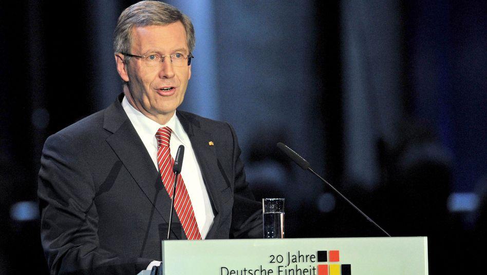 """Wulff-Rede zum Tag der Einheit: """"Ich bin auch der Präsident der Muslime"""""""