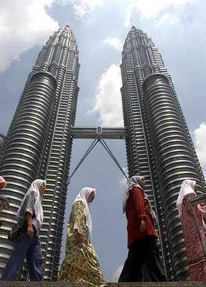 Petronas-Zwillingstürme in Kuala Lumpur: Die bisher höchsten Gebäude der Welt