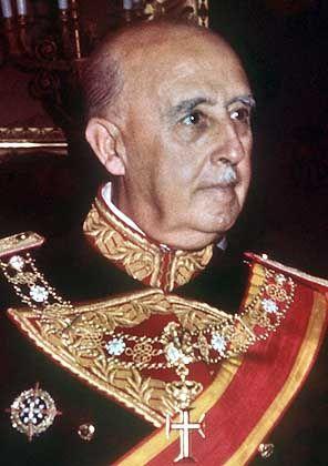Der spanische General Francisco Franco