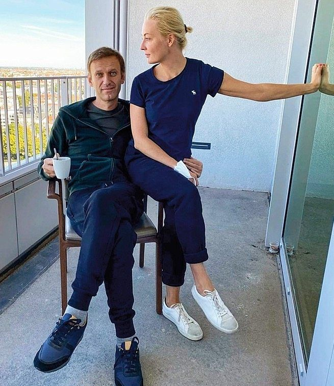 Navalny posted photos of himself on Instagram showing him on the balcony of his room.