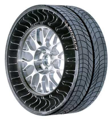 Michelin Tweel: Ein Kranz aus Speichen übernimmt die Funktion der Luft im Reifen