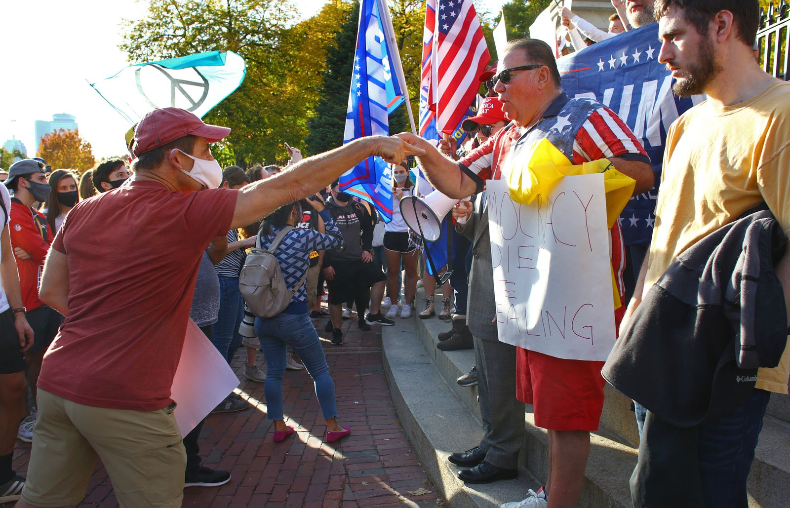 Bostonians Celebrate Biden-Harris Win