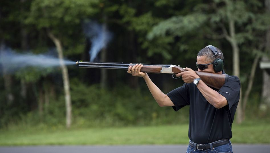 Barack Obama, Camp David, 4. August 2012: Peng!