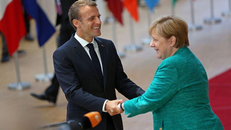 Präsident Macron, Kanzlerin Merkel