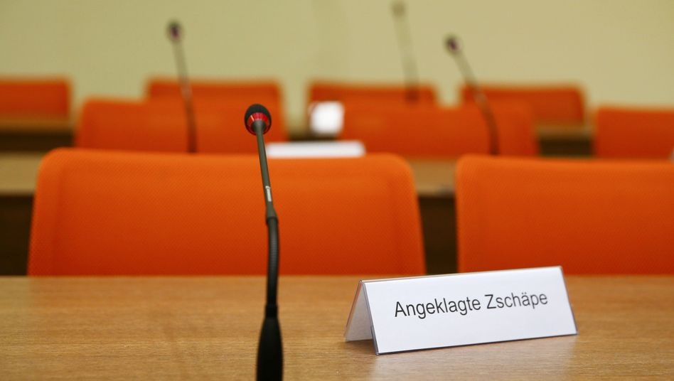 The courtroom in Munich where the NSU trial got underway on Monday.