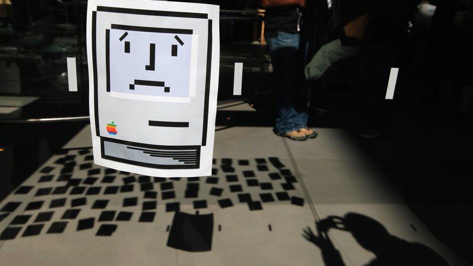 Ausdruck eines Sad-Mac-Icons: Auch Apple-Mitarbeiter wurde Opfer von Hackerangriffen