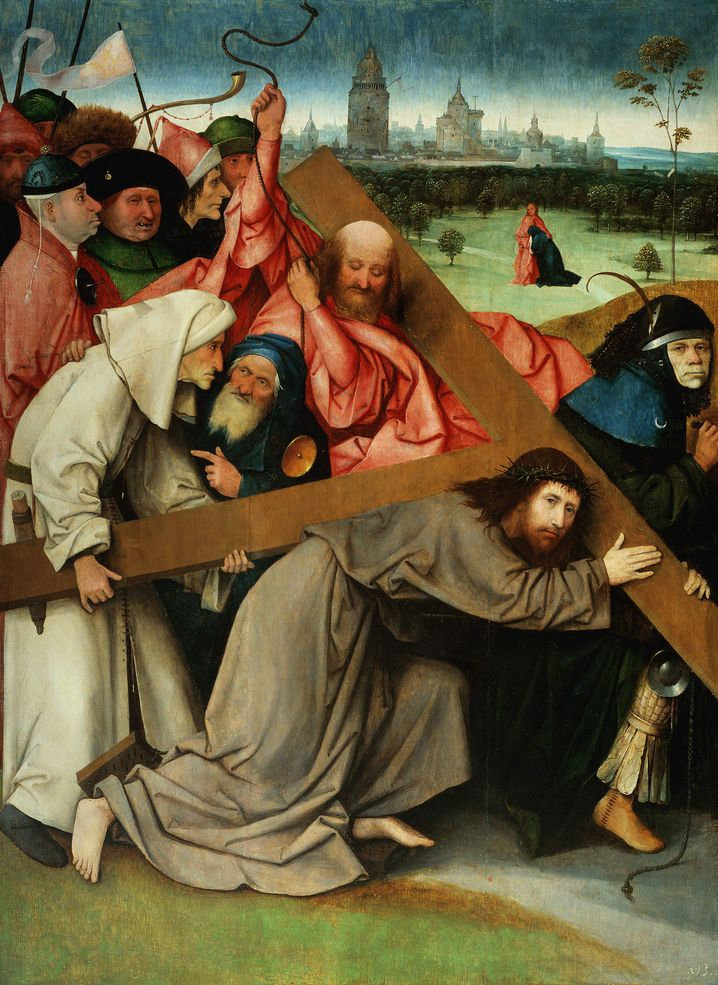 """The Hieronymus Bosch painting """"Christ Carrying the Cross"""" from around 1500."""