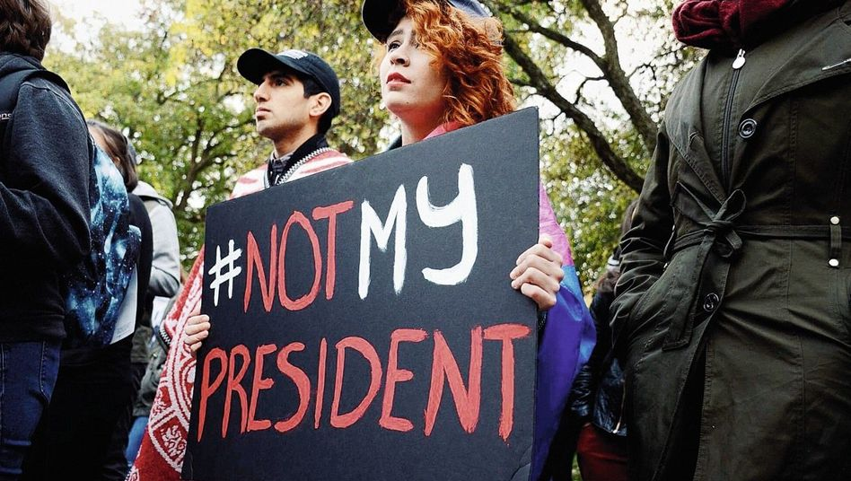 Anti-Trump-Demonstranten in Ohio: Die Wahl kapieren