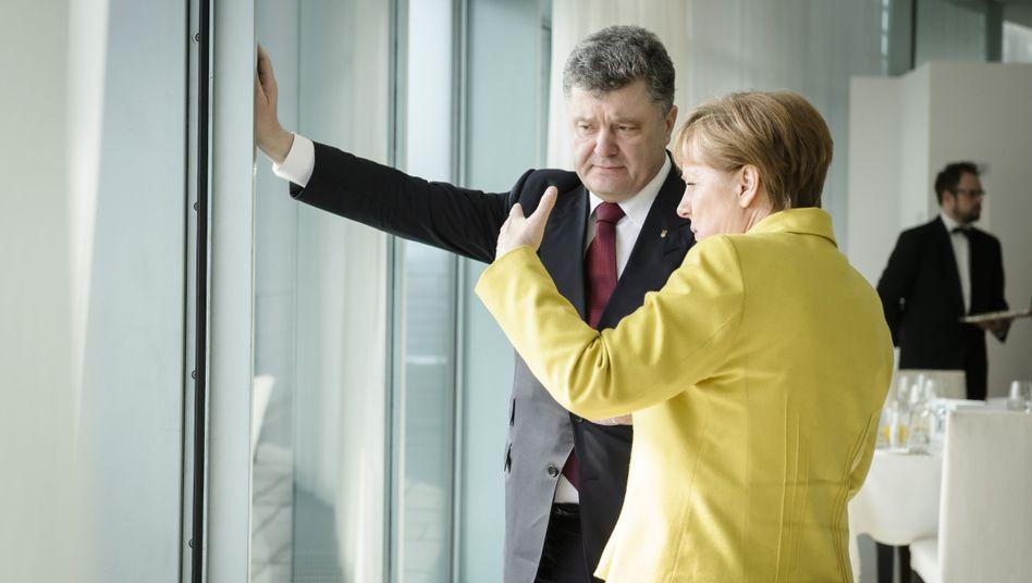 Angela Merkel, Petro Poroschenko