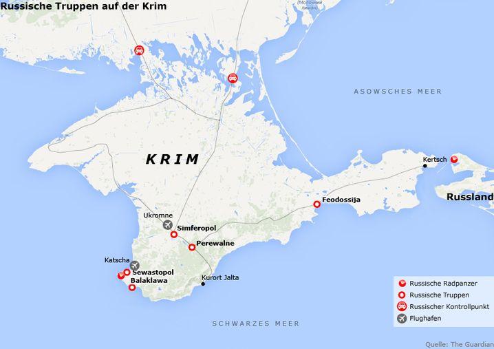 Grafik: Russische Truppen auf der Krim