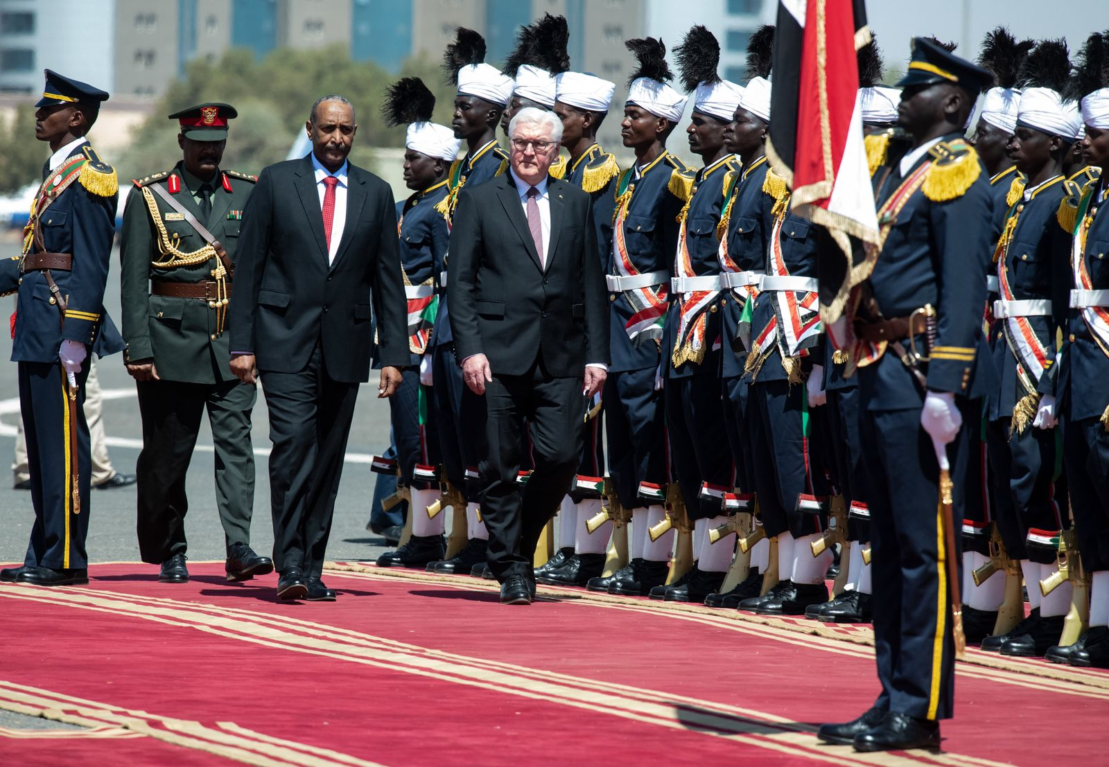 Bundespräsident Steinmeier im Sudan