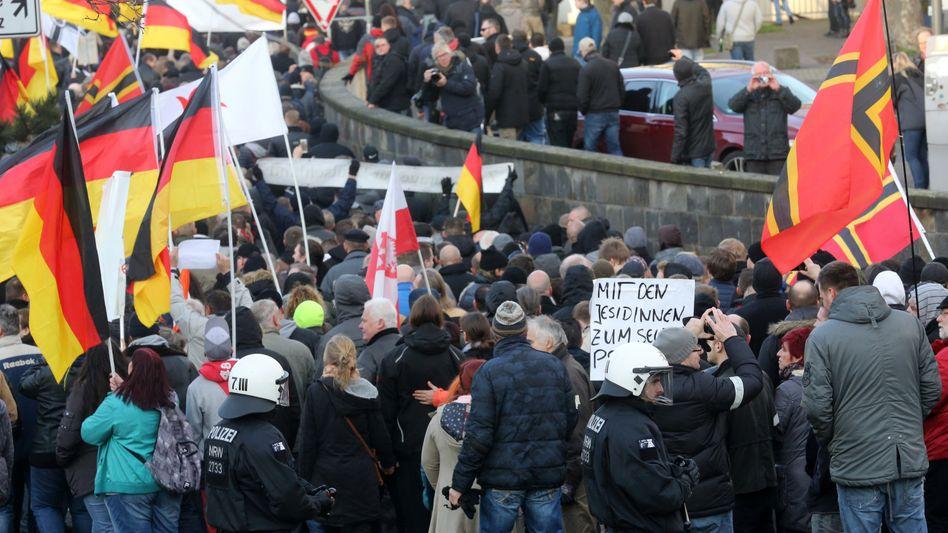 Pegida-Demonstration in Köln: Sorge in Amerika